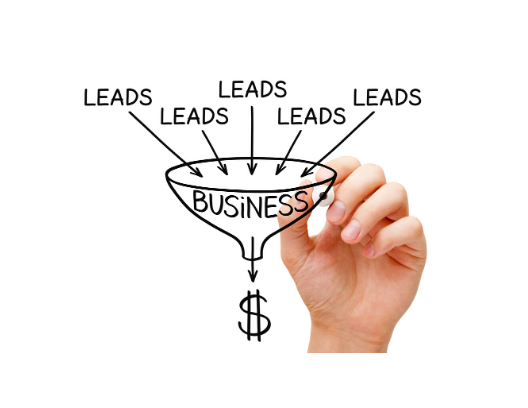 picture of leads in funnel